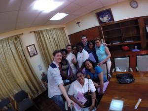 Groepsfoto tijdens de workshop gegeven door fysiotherapeut Daan de Bruijn